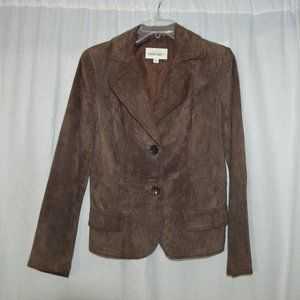 Cherokee Coat Womens M Suede Jacket Button Front